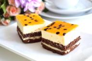 Marakujas-baltās šokolādes kūka